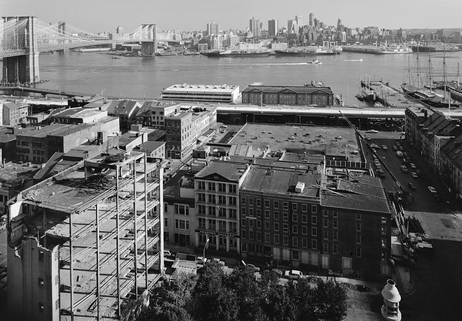 1980 Photograph - New York Water Street by Granger