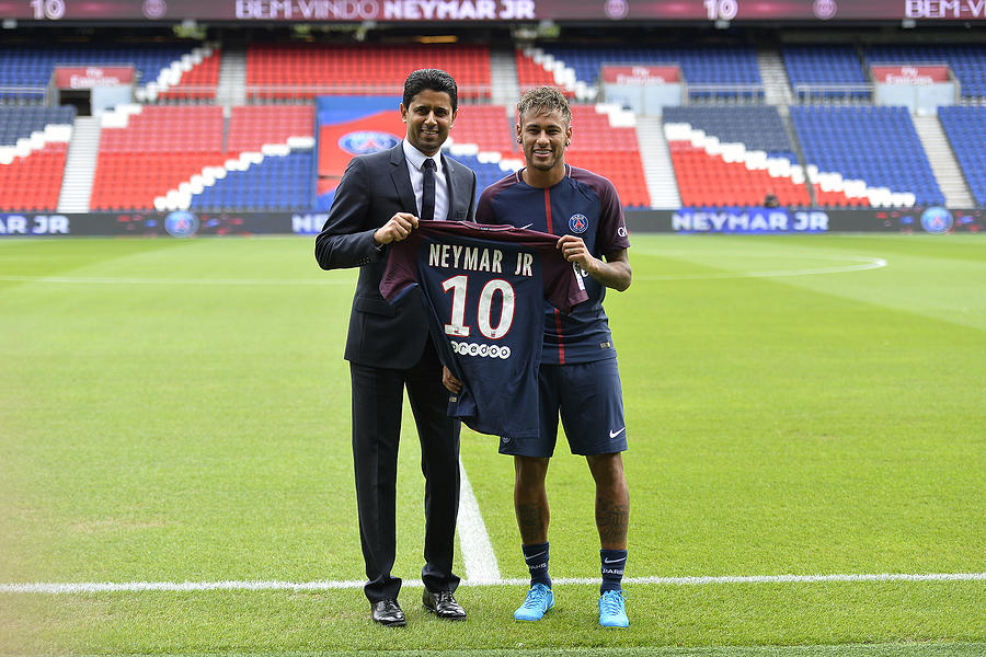 Neymar Signs For PSG Photograph by Aurelien Meunier