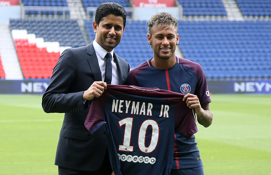 Neymar Signs For PSG Photograph by Jean Catuffe