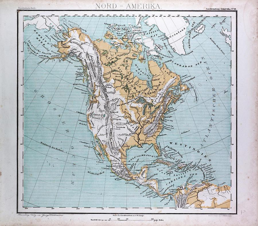 North America Drawing North America Map North