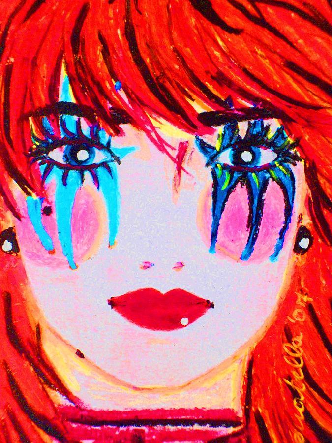 Doll Drawing - Nostalgic Pop  by Donatella Muggianu