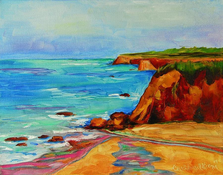 Ocean Painting - Ocean View by Brandi  Hickman