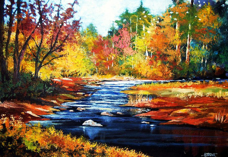 Landscape Painting - October Bliss In Autumn Light by Al Brown