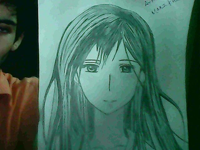 Anime Drawing - 2 Of 10 by Maaz Ali Nizamani