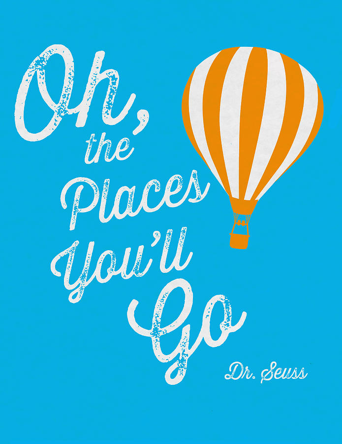 Dr. Seuss Digital Art - Oh The Places Youll Go 2 by Kenneth Wilkins