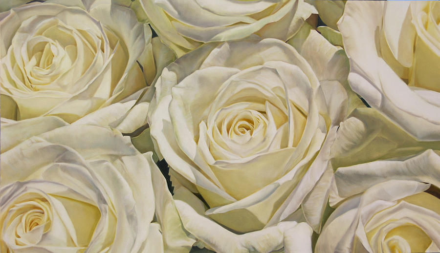 Oil painting white roses painting by thomas darnell white roses painting oil painting white roses by thomas darnell mightylinksfo