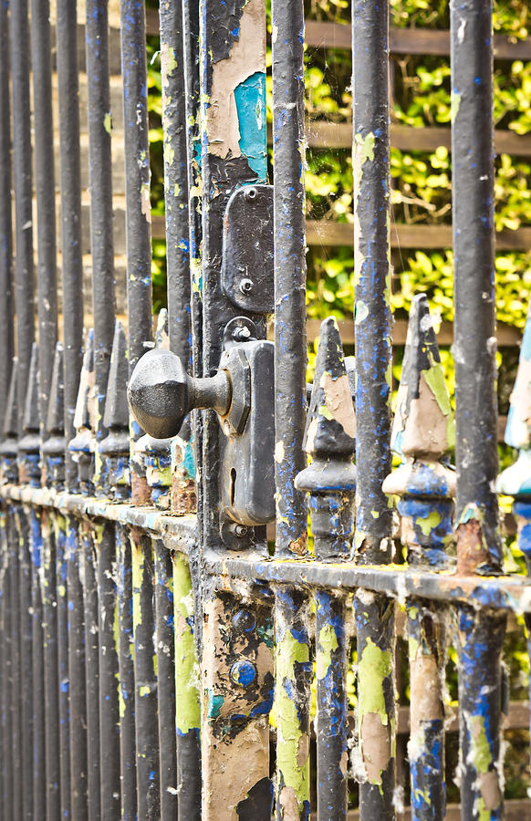 Abstract Photograph - Old Gate by Tom Gowanlock
