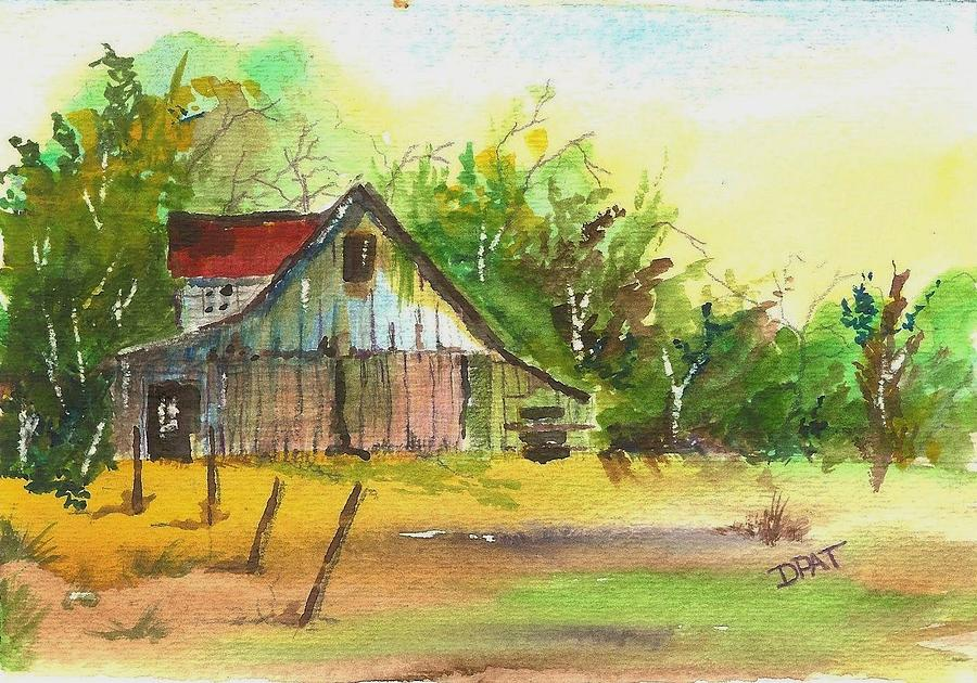 Old Western Ranch Barn Painting By David Patrick