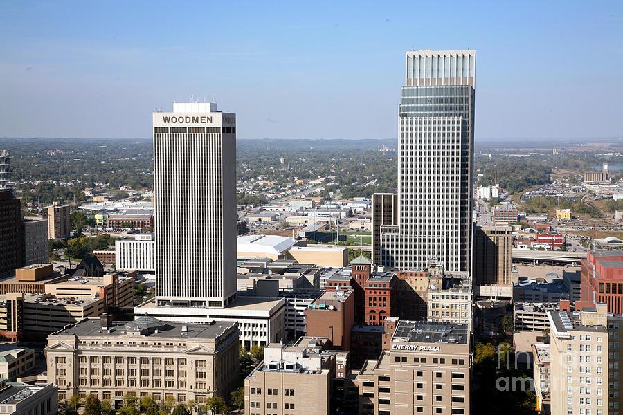 Omaha Nebraska Skyline Photograph By Bill Cobb