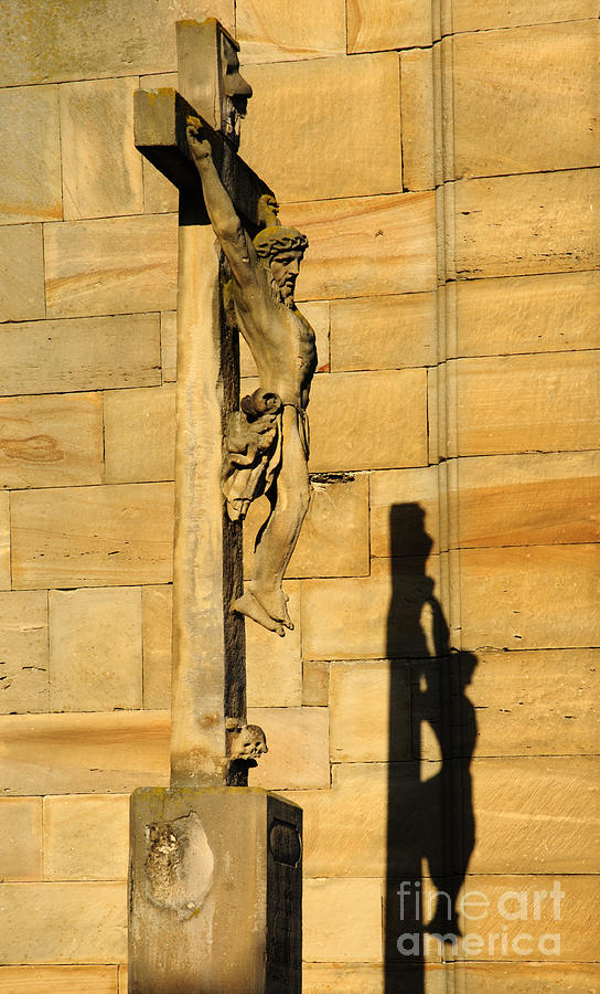 Jesus Photograph - On The Cross by Colin Woods