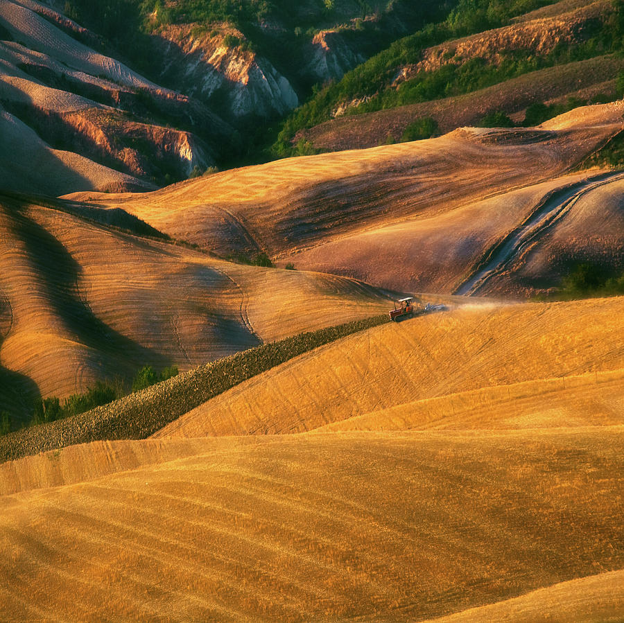 Tuscany Photograph - On Waves... by Krzysztof Browko