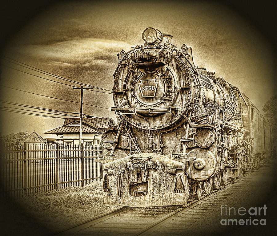 Locomotive Photograph - Out Of The Past by Arnie Goldstein