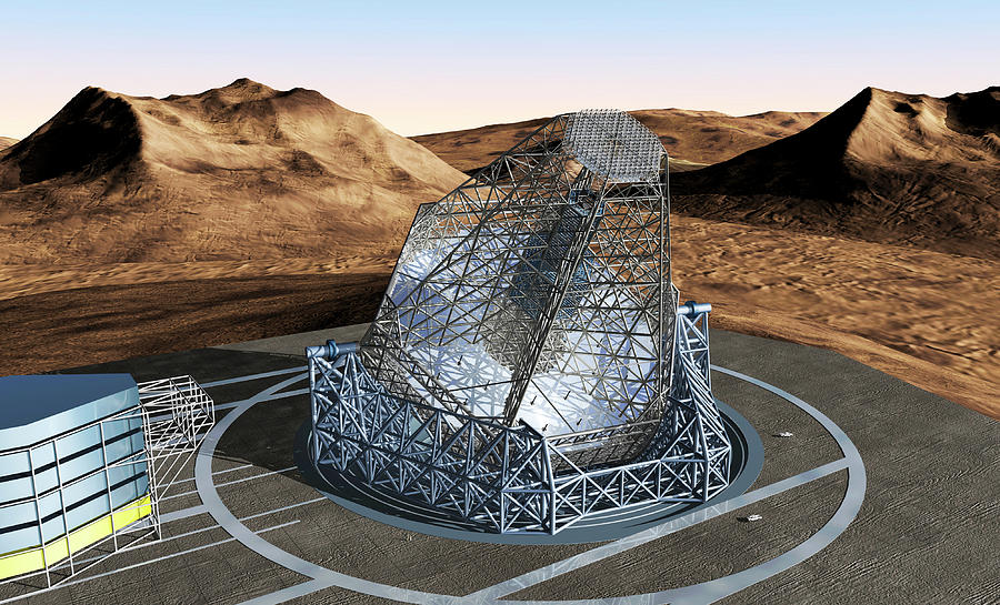Equipment Photograph - Overwhelmingly Large Telescope by European Southern Observatory/science Photo Library