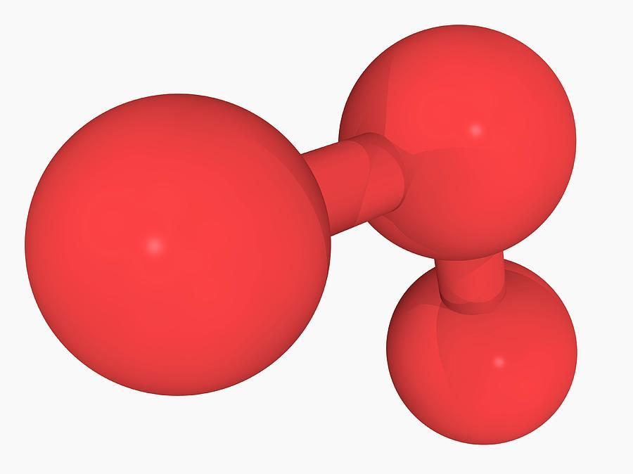 Artwork Photograph - Ozone Oxygen Molecule by Laguna Design/science Photo Library
