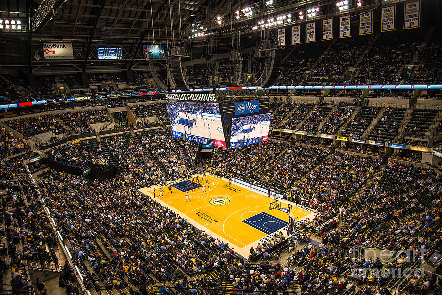 Banker's Life Photograph - Pacers Indiana by David Haskett