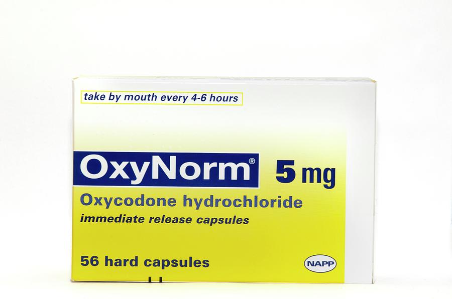 Pack Photograph - Pack Of Oxynorm Capsules by Dr P. Marazzi/science Photo Library