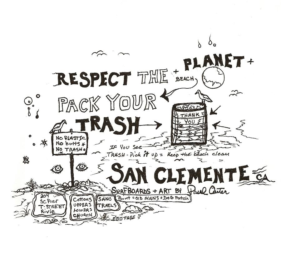 Pack Your Trash Drawing by Paul Carter