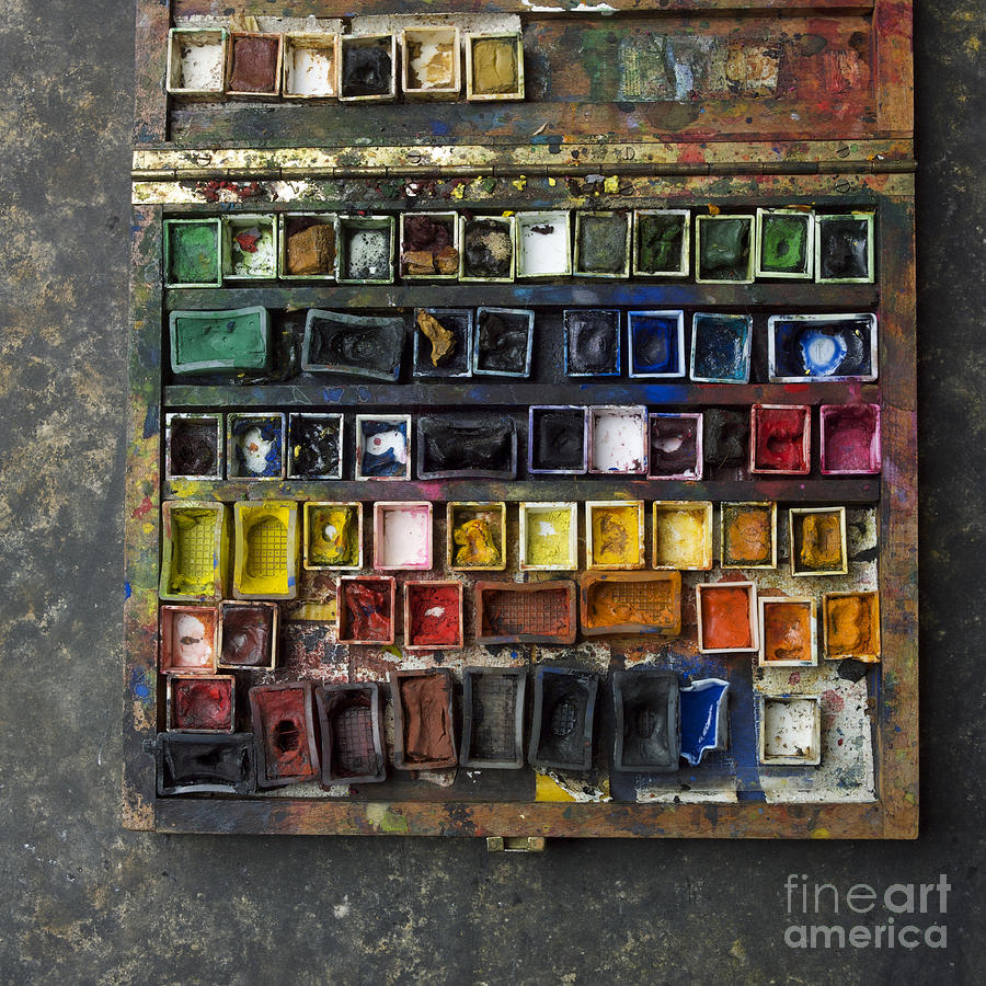 Indoors Photograph - Paint Box by Bernard Jaubert
