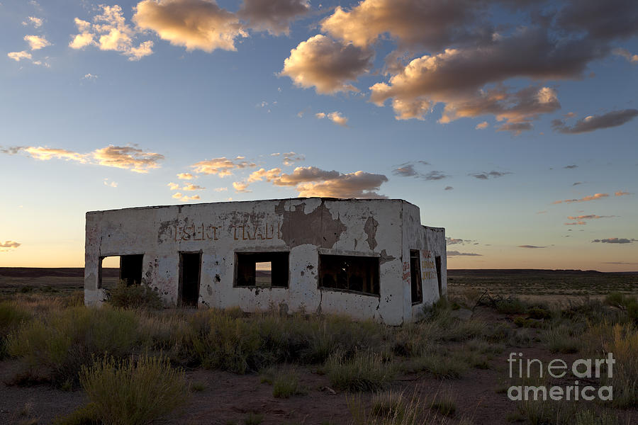 Painted Desert Trading Post At Sunset Photograph