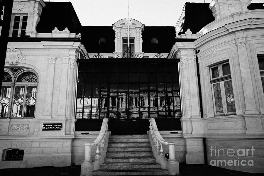 Palacio Photograph - palacio braun menendez palace regional magallanes museum Punta Arenas Chile by Joe Fox