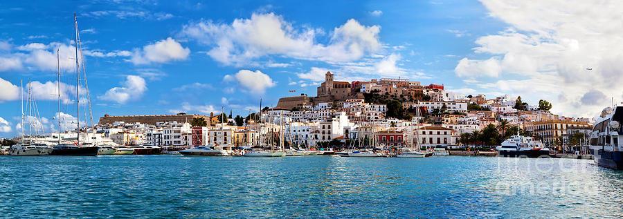 Ibiza Photograph - Panorama Of Ibiza Spain by Michal Bednarek