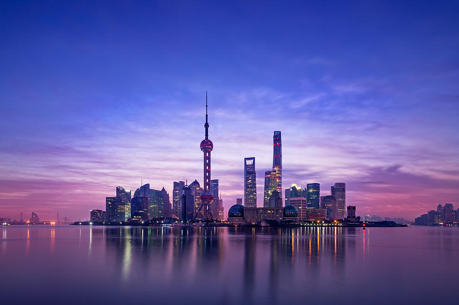 Panoramic Skyline Of Shanghai Photograph by MarsYu