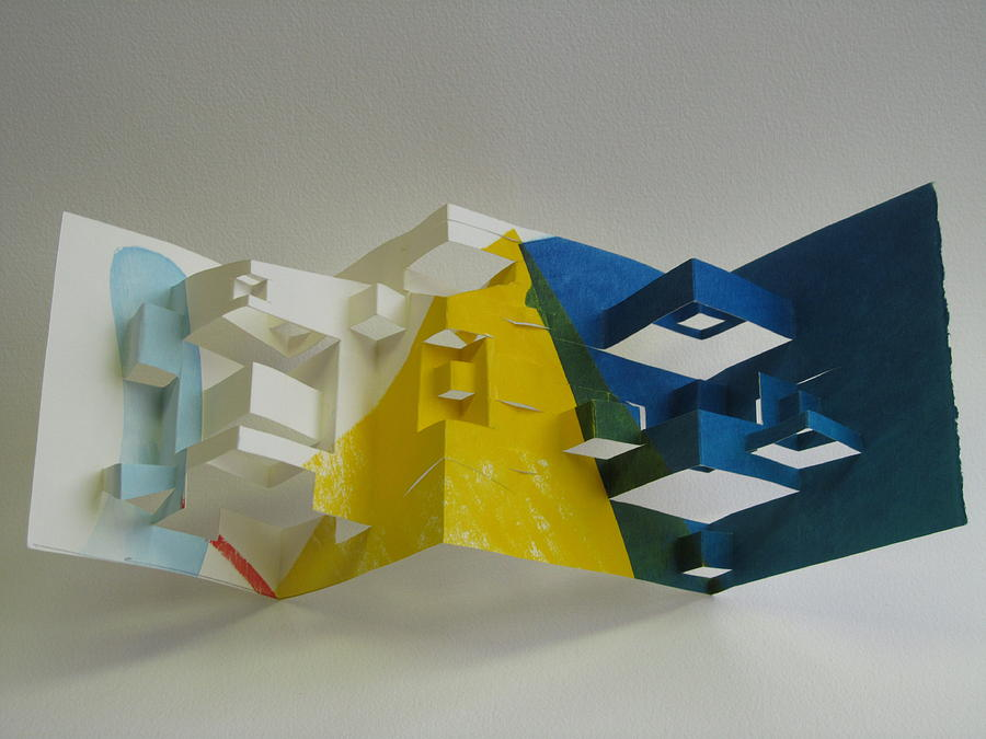 Silk Screen Print Sculpture - Paper Architecture by Alfred Ng