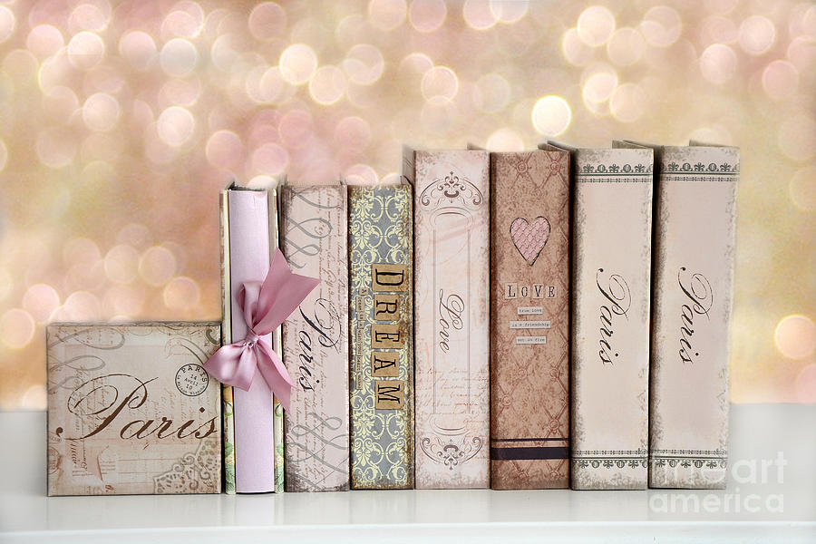 Book Cover Photography Guide : Paris dreamy shabby chic romantic pink cottage books love