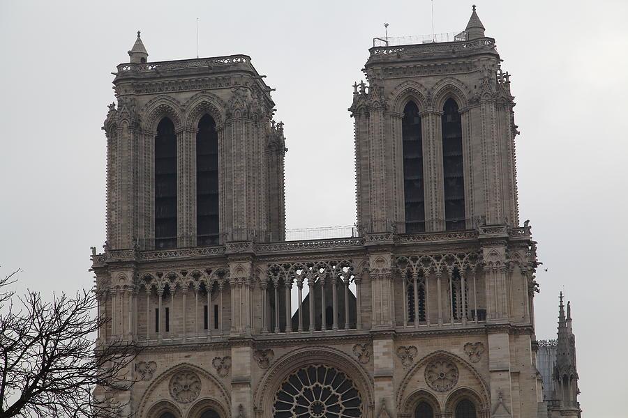Aged Photograph - Paris France - Notre Dame De Paris - 01133 by DC Photographer