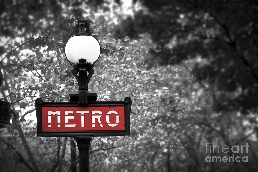 Architecture Photograph - Paris Metro by Elena Elisseeva