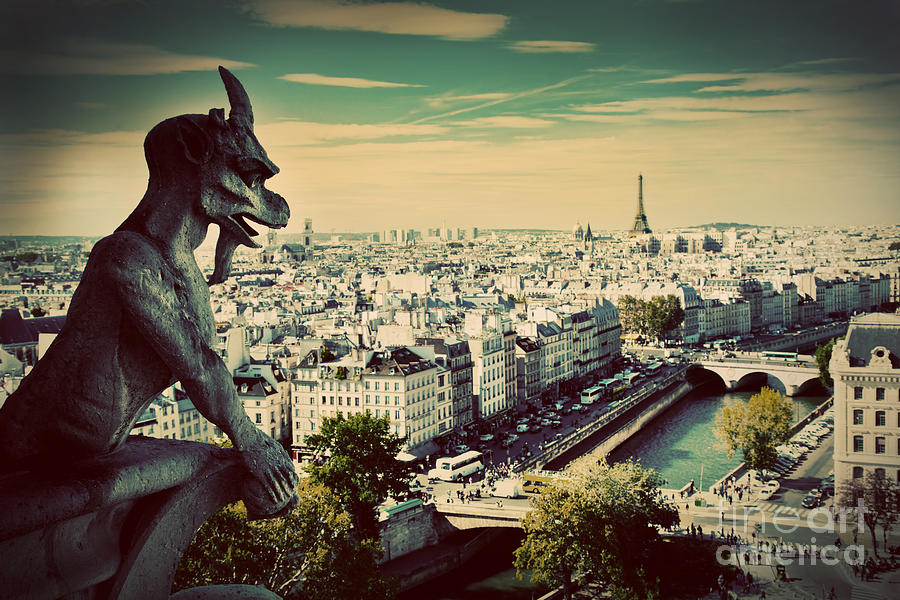 City Photograph - Paris Panorama France by Michal Bednarek