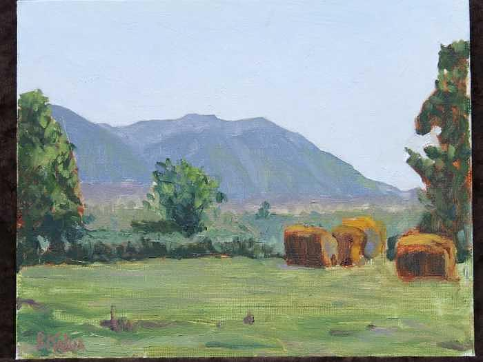 Pasture Scene East Arlington Wa Painting by Raymond Kaler