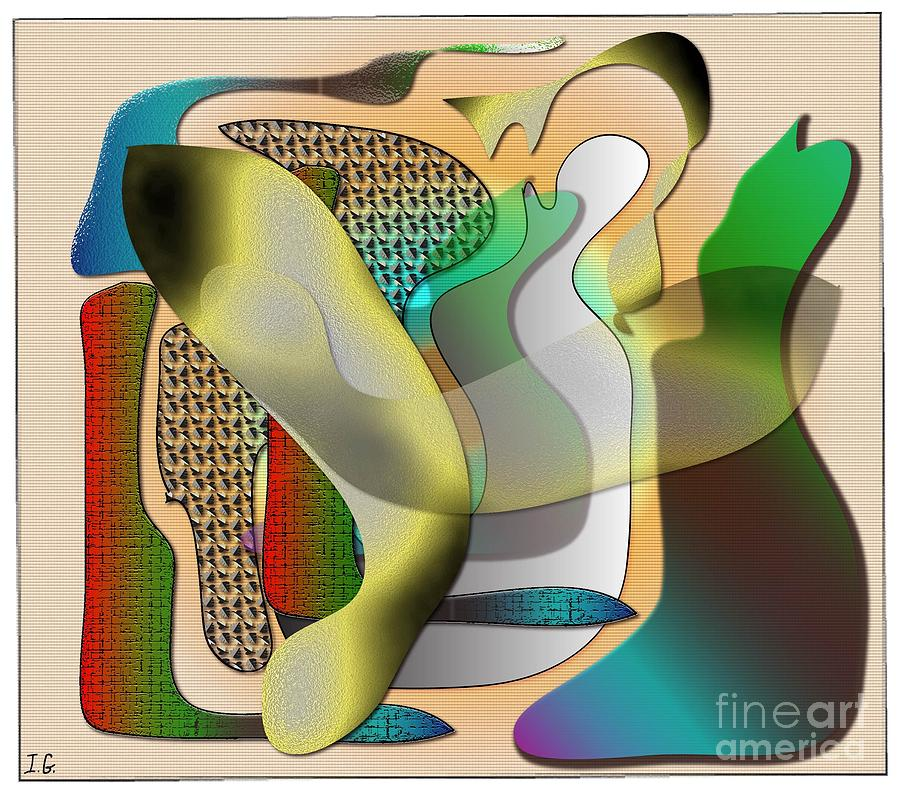 Abstract Digital Art - Patches by Iris Gelbart