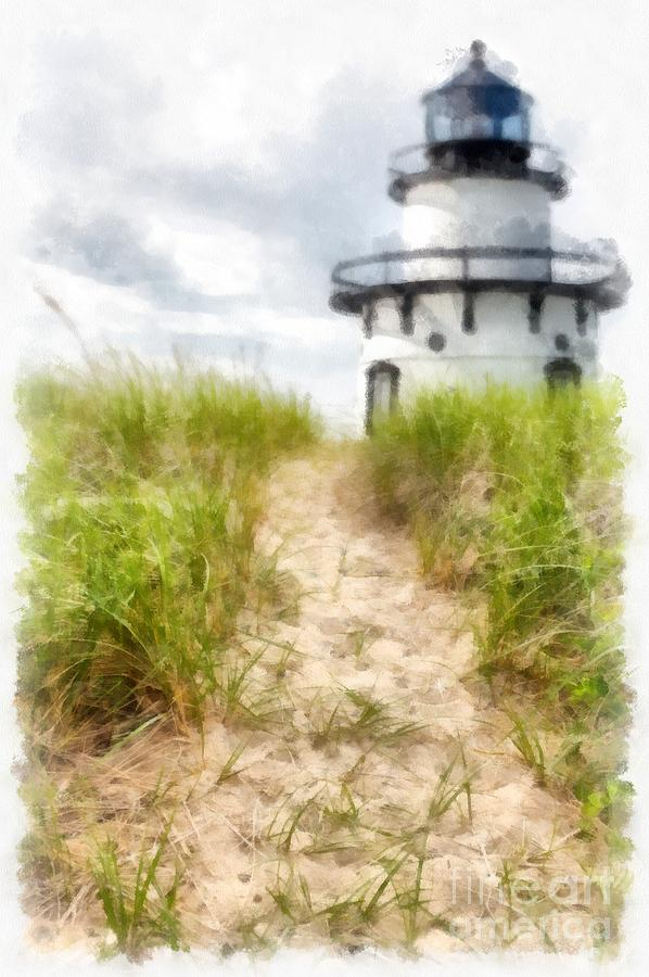 Lighthouse Photograph - Path to the Beach by Edward Fielding