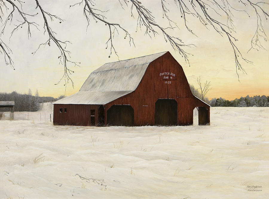 Oil Paintings Painting - Patterson Barn by Mary Ann King