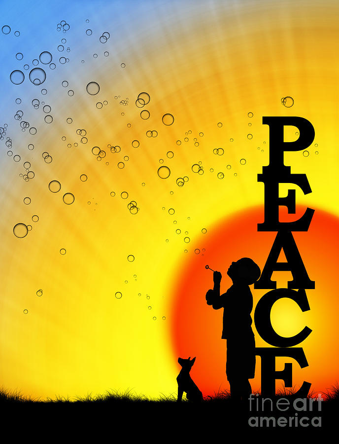 Boy Photograph - Peace by Tim Gainey