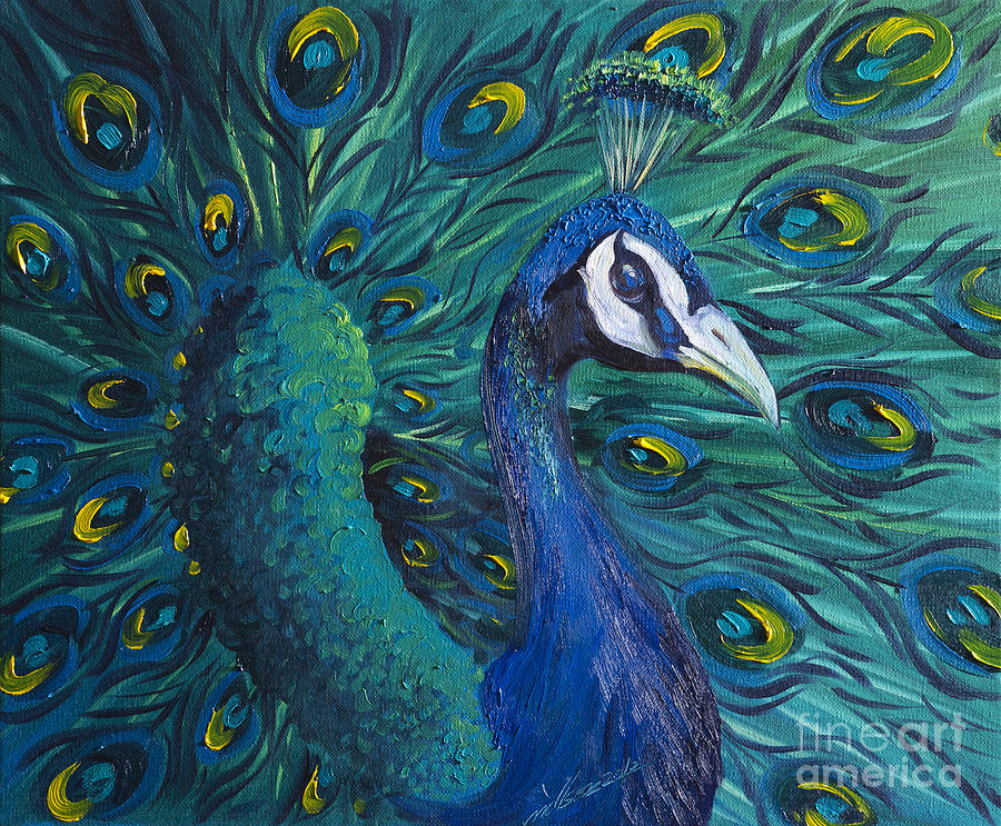 Peacock Painting - Peacock by Willson Lau