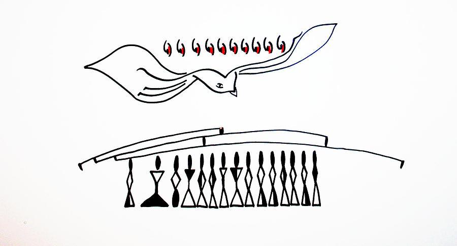 Jesus Drawing - Pentecost by Gloria Ssali