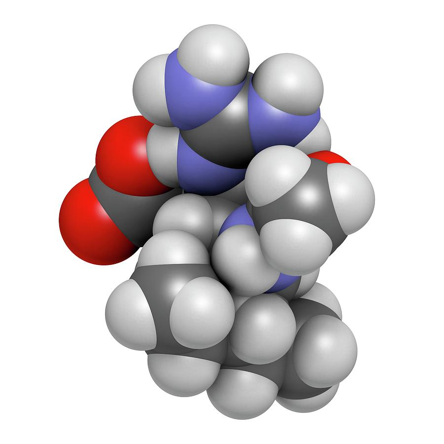 Antiviral Photograph - Peramivir Influenza Drug Molecule by Molekuul