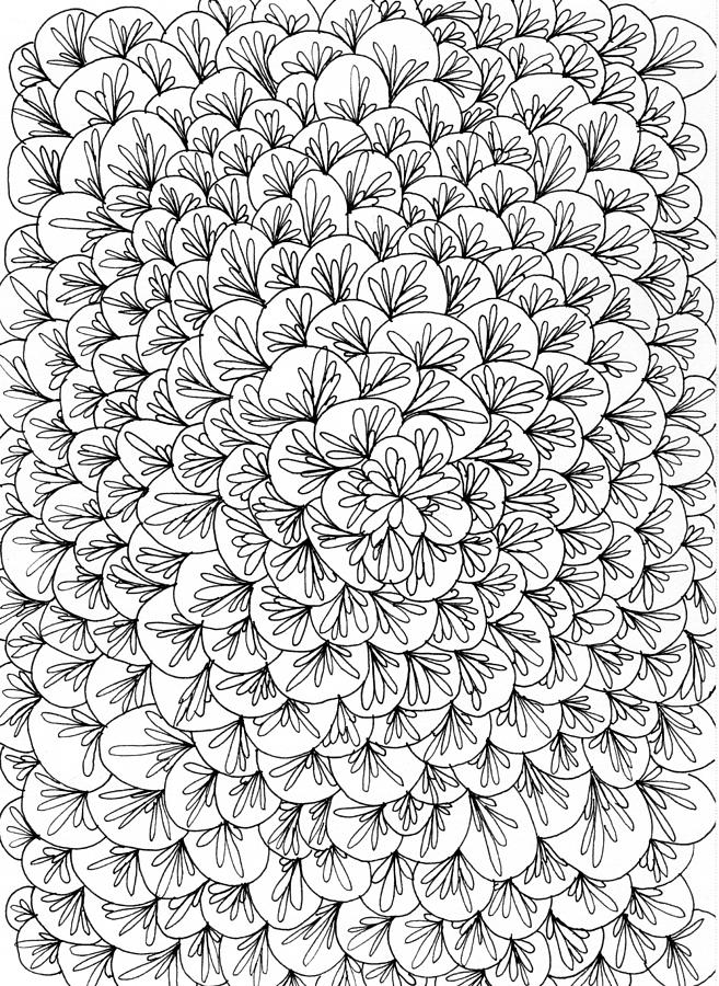 Pen And Ink Drawing - Petals by Yvette Pichette
