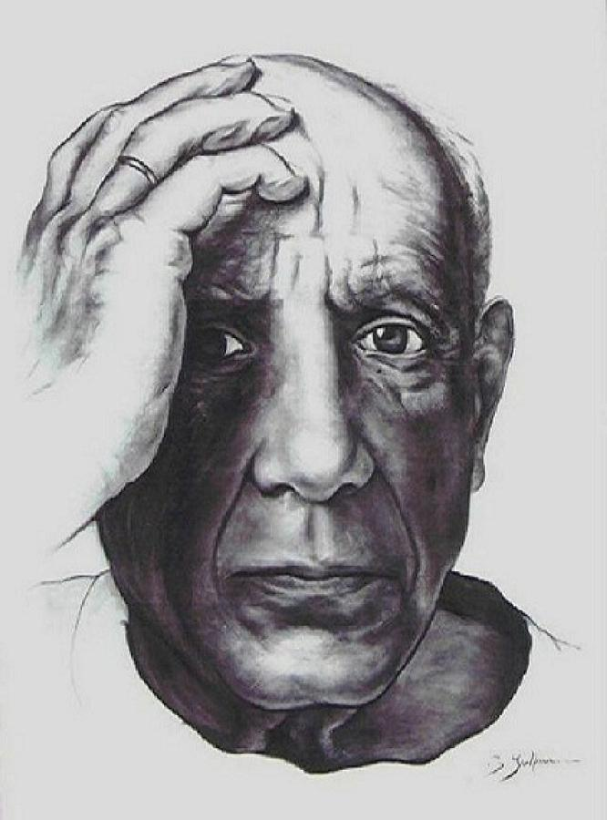 Picasso Drawing - Picasso by Guillaume Bruno