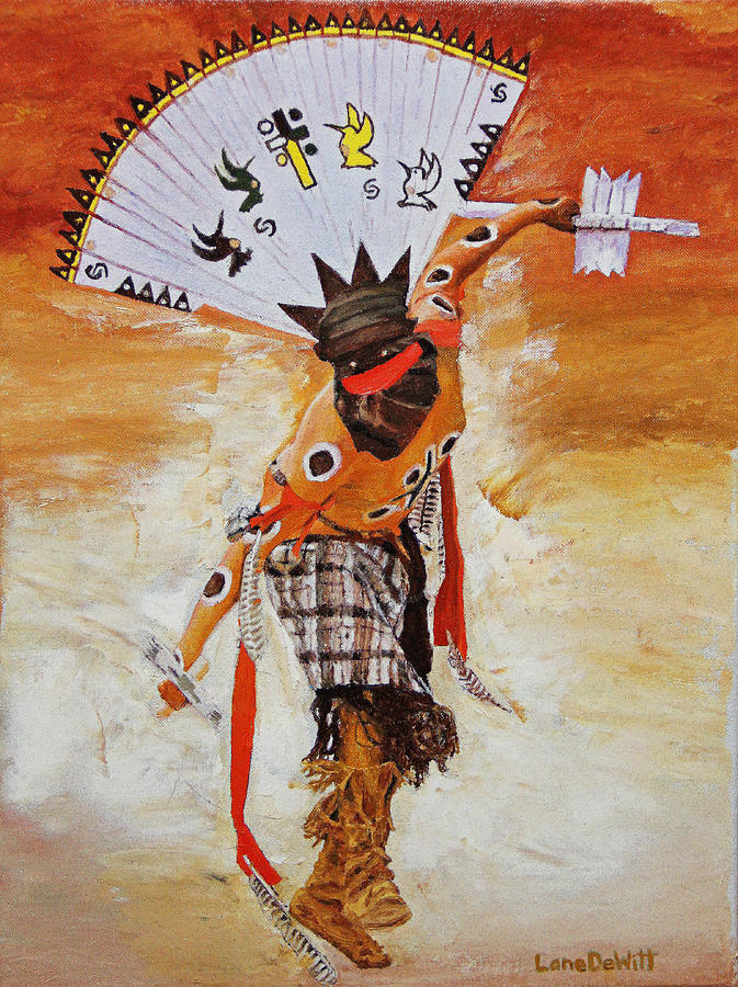 Native American Painting - Pine Tree Clan by Lane DeWitt