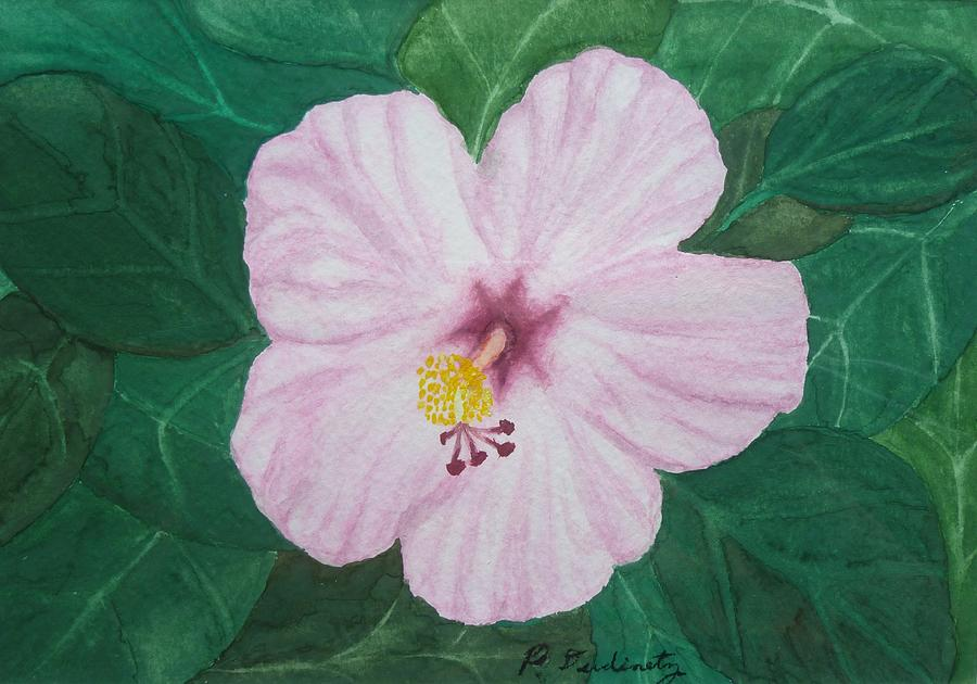 Hibiscus Painting - Pink Hibiscus by Patty Dopkin
