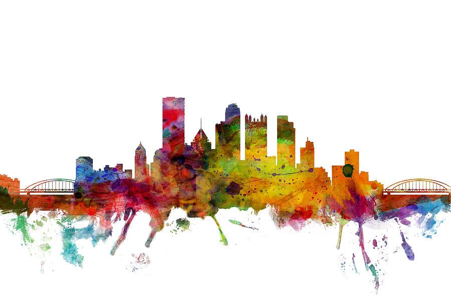 United States Photograph - Pittsburgh Pennsylvania Skyline by Michael Tompsett