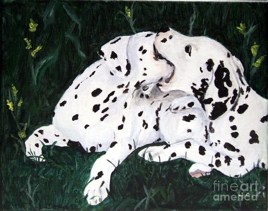 Dogs Painting - Playful Pups by Jacki McGovern
