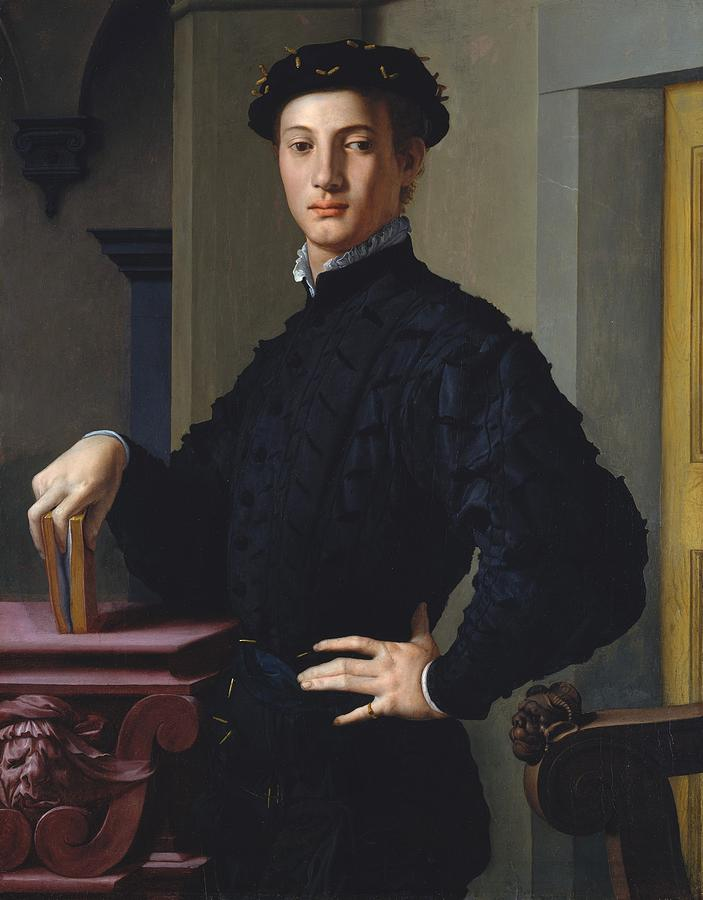 1530 Painting - Portrait Of A Young Man by Agnolo Bronzino
