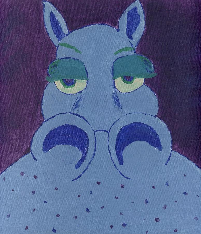 Hippo Painting - Potamus by Yshua The Painter