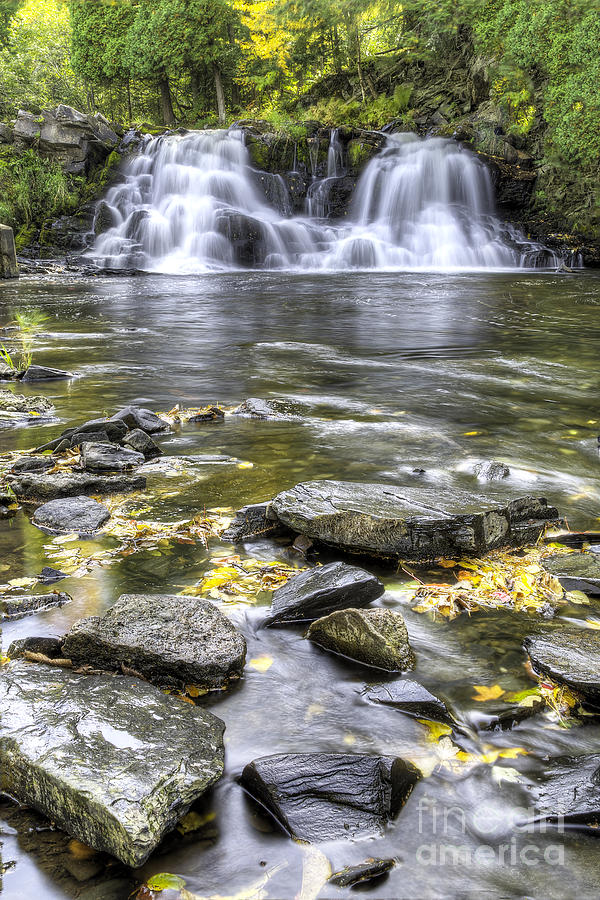 Falls Photograph - Powerhouse Falls by Twenty Two North Photography