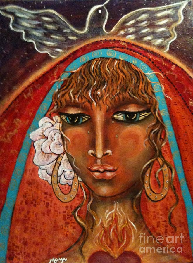 Great Mother Painting - Pray For Peace by Maya Telford