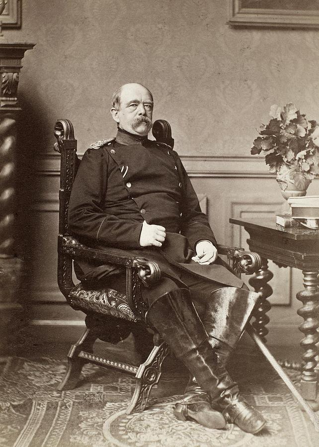 1874 Photograph - Prince Otto Von Bismarck (1815-1898) by Granger